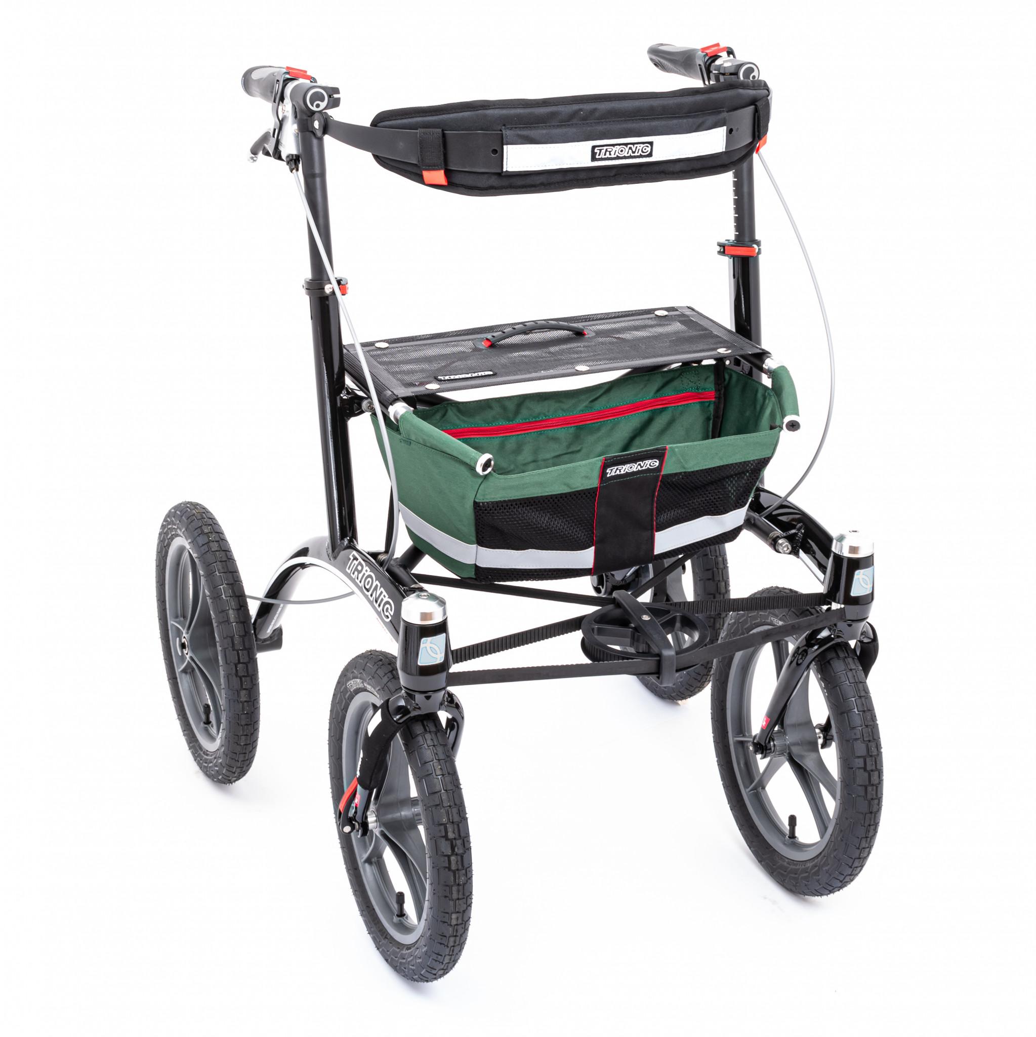 Rollator Walker 14er green/black/red | Rollator Walker ...
